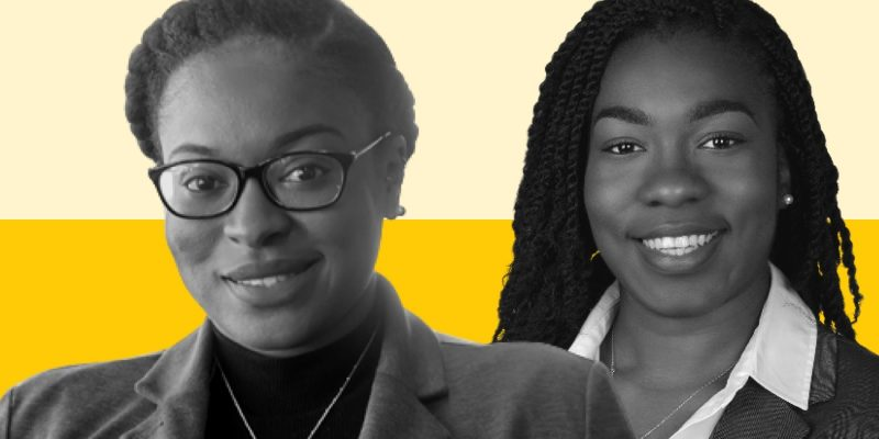 MedHaul CEO & founder Erica Plybeah and Nathalie Occean, Director of Quality and Community Engagement